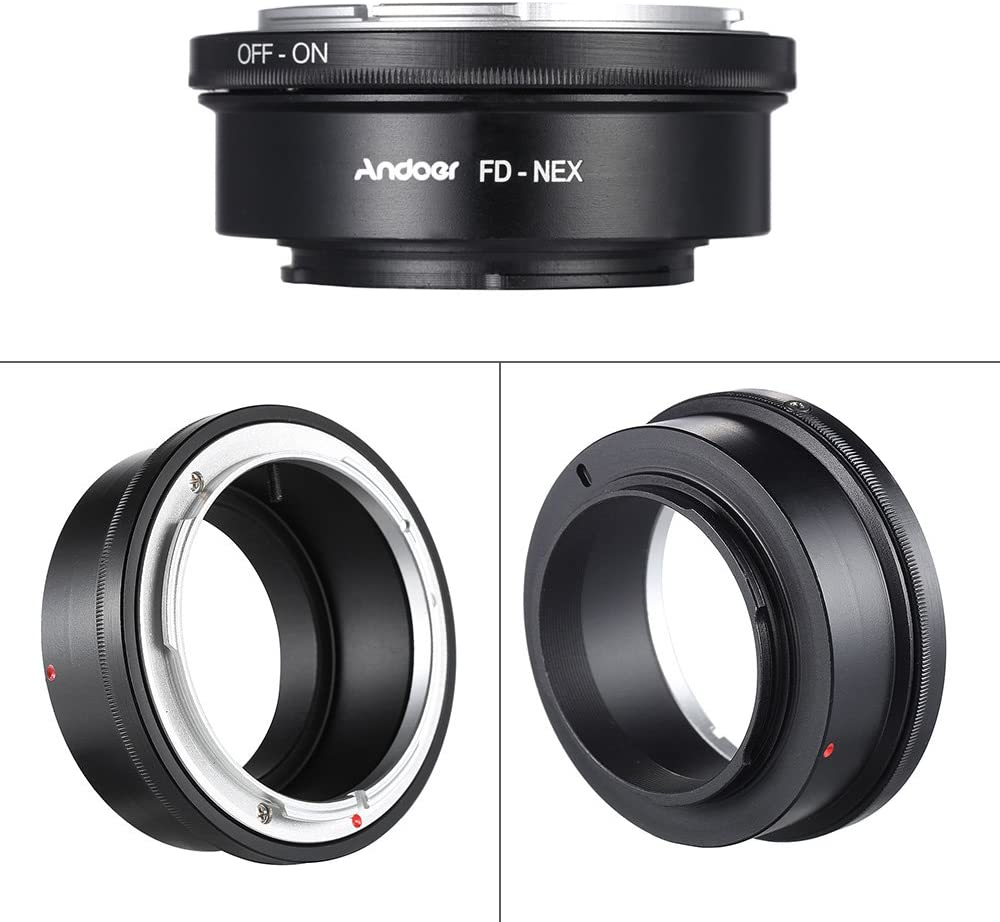 Andoer FD-NEX Adapter Ring Lens Mount for Canon FD Lens to Fit for Sony NEX E Mount Digital Camera Body