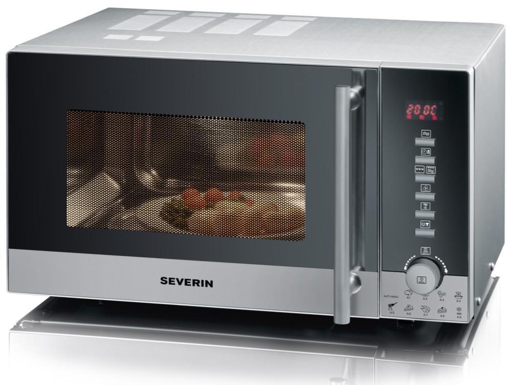 Severin Microonde, Forno Ventilato e Grill, con Maniglia Professionale, 9 Programmi Automatici, Capacità 20 Litri MW 9722