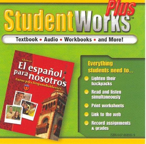 El español para nosotros: Curso para hispanohablantes Level 1, StudentWorks Plus CD-ROM (SPANISH HERITAGE SPEAKER) (Spa