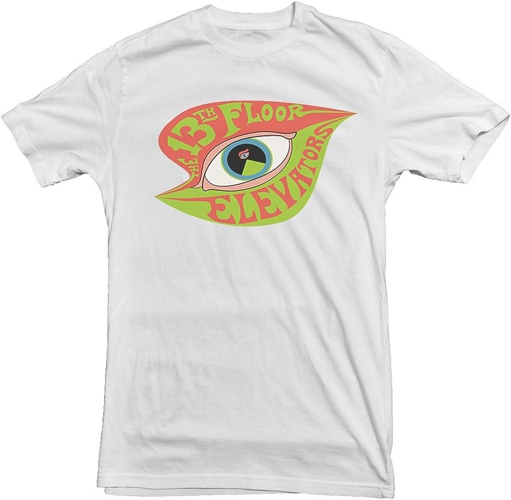 Camiseta del piso 13 en el ascensor texana psicodélica multicolor blanco Talla única: Amazon.es: Ropa y accesorios
