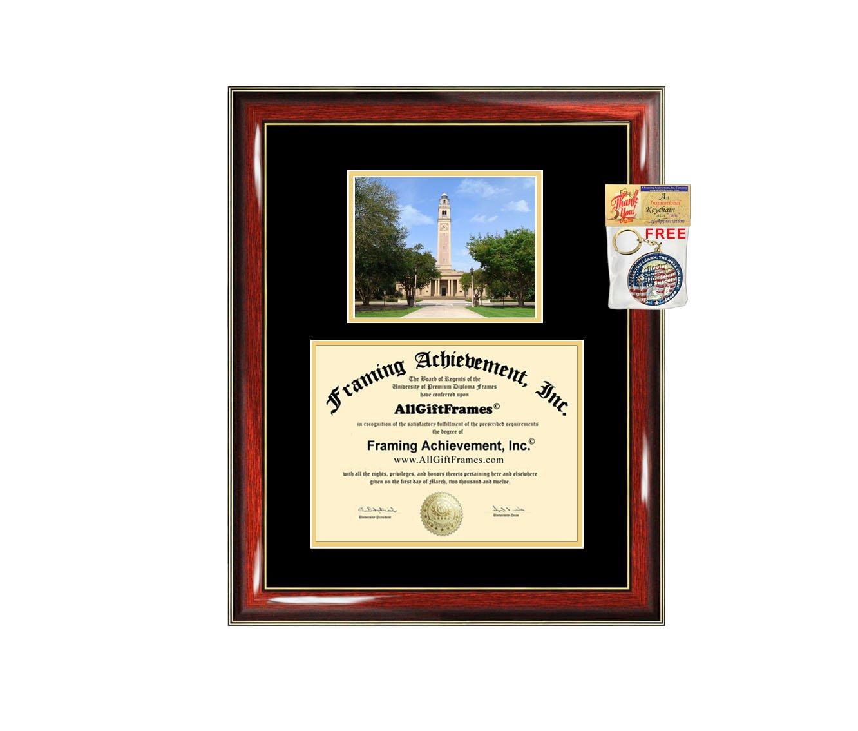 Amazon.de: AllGiftFrames Louisiana State University Diplom Rahmen ...
