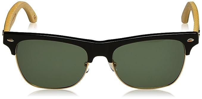 HÄRVIST Unisex-Erwachsene Sonnenbrille Clubmix, Mehrfarbig (Negro/Bambú Verde), 55