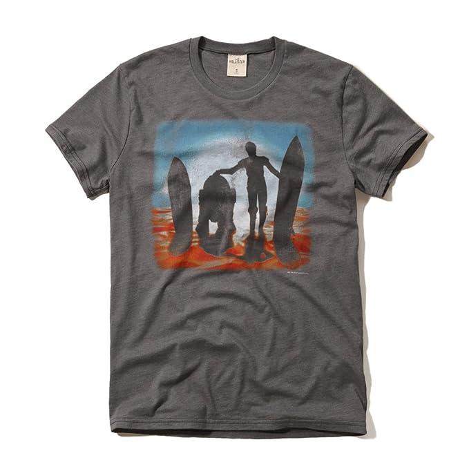 Hollister - Camiseta - Manga corta - para hombre gris gris oscuro ...