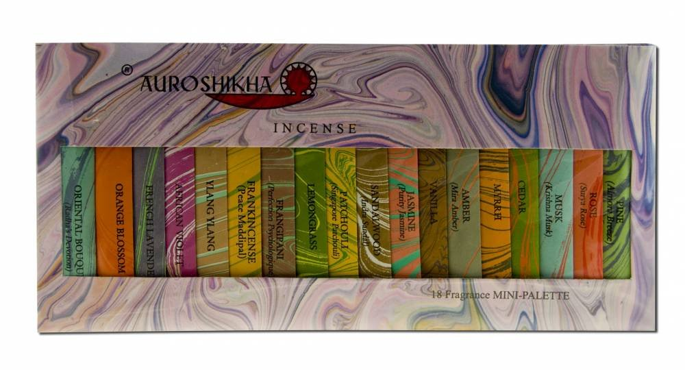 Auroshikha お香 クラシック 大理石 18 フレグランス サンプラー   B006FXJPSY