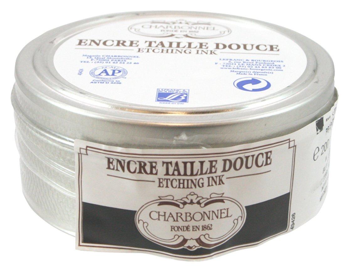 Lefranc and Bourgeois Charbonnel Etching Ink, Schwarz (55985), 200ml Topf - Kupferdruckfarbe