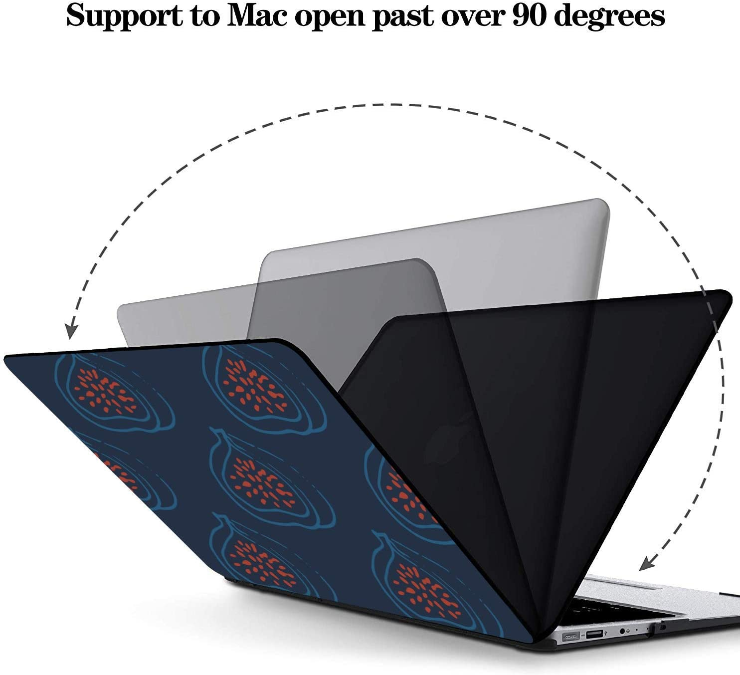 Mac Book Air Cover Wild Nature Creative Red Fruit Fig Plastic Hard Shell Compatible Mac Air 11 Pro 13 15 MacBook Air Accessories Protection for MacBook 2016-2019 Version