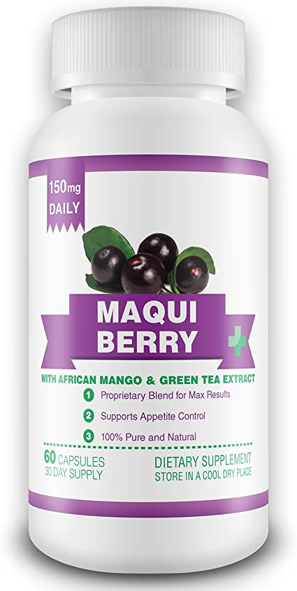 Amazon Com 100 Pure Maqui Berry Extract Supplement 1 Month