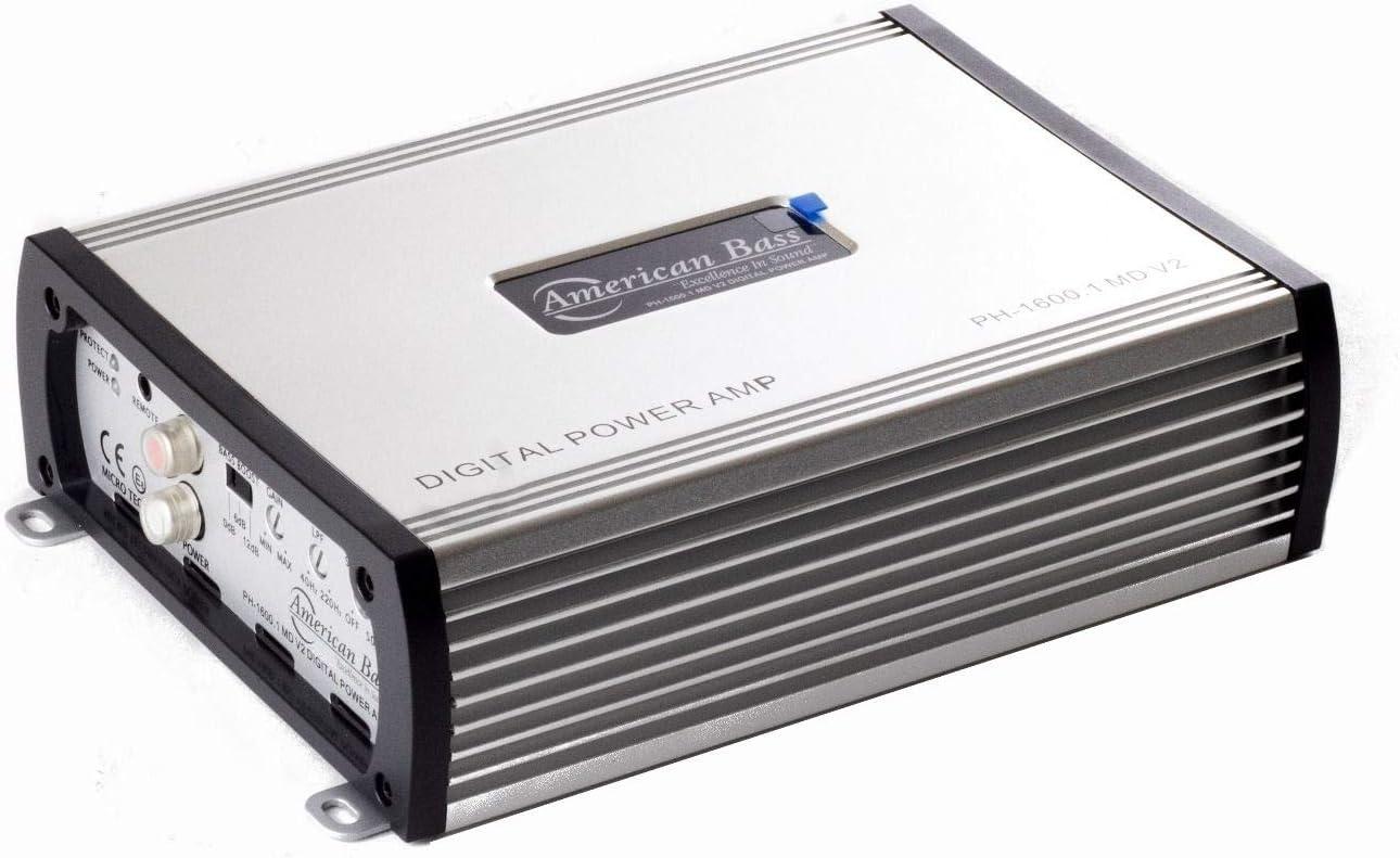 American Bass Usa HD1500 Versatile Subwoofer Amplifier Silver