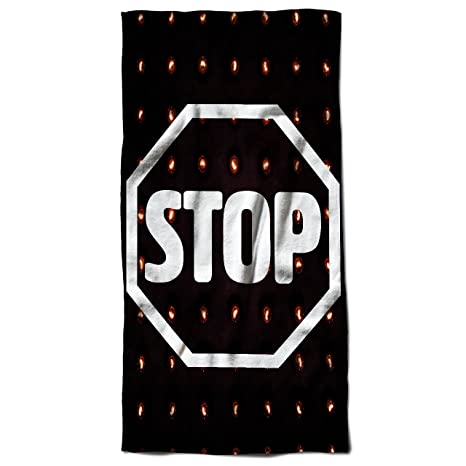 Stop Strada Segno moda Segno forma 70 cm x 150 cm toalla de playa | Wellcoda