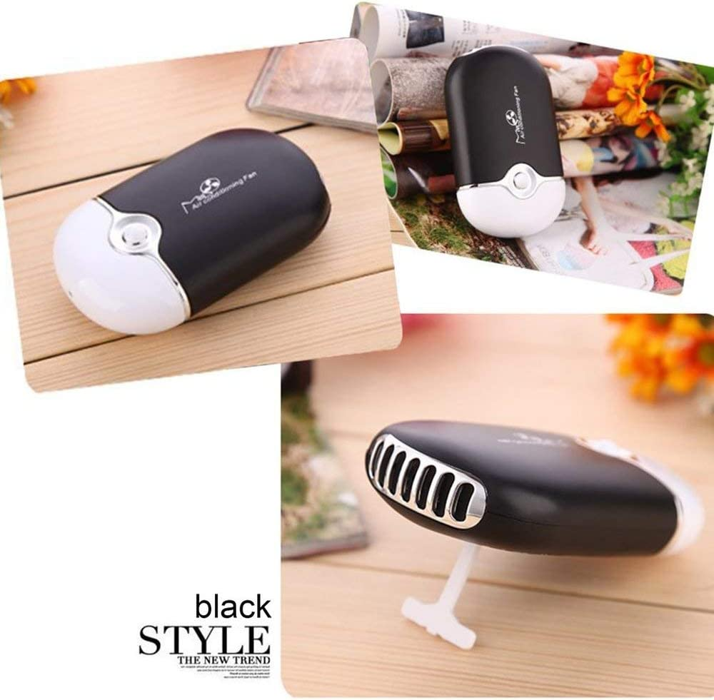 Unitedheart Mini Portable Handheld Desk Air Conditioner 400Mah Lithium Battery Humidification Cooler USB Rechargeable Cooling Fan Portable Car Charger Power Supply Adapter