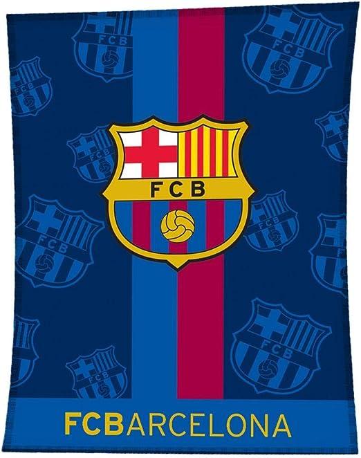 Asditex Manta Rachel F.C Barcelona 130x170 - Manta de Viaje - Estampado Fondo Azul con el Escudo del Barça: Amazon.es: Hogar