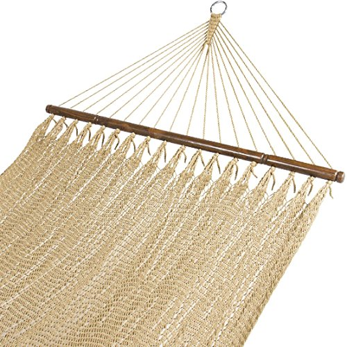 Double Two Point Tight Weave Caribbean Hammock Outdoor Garden Patio by BEC