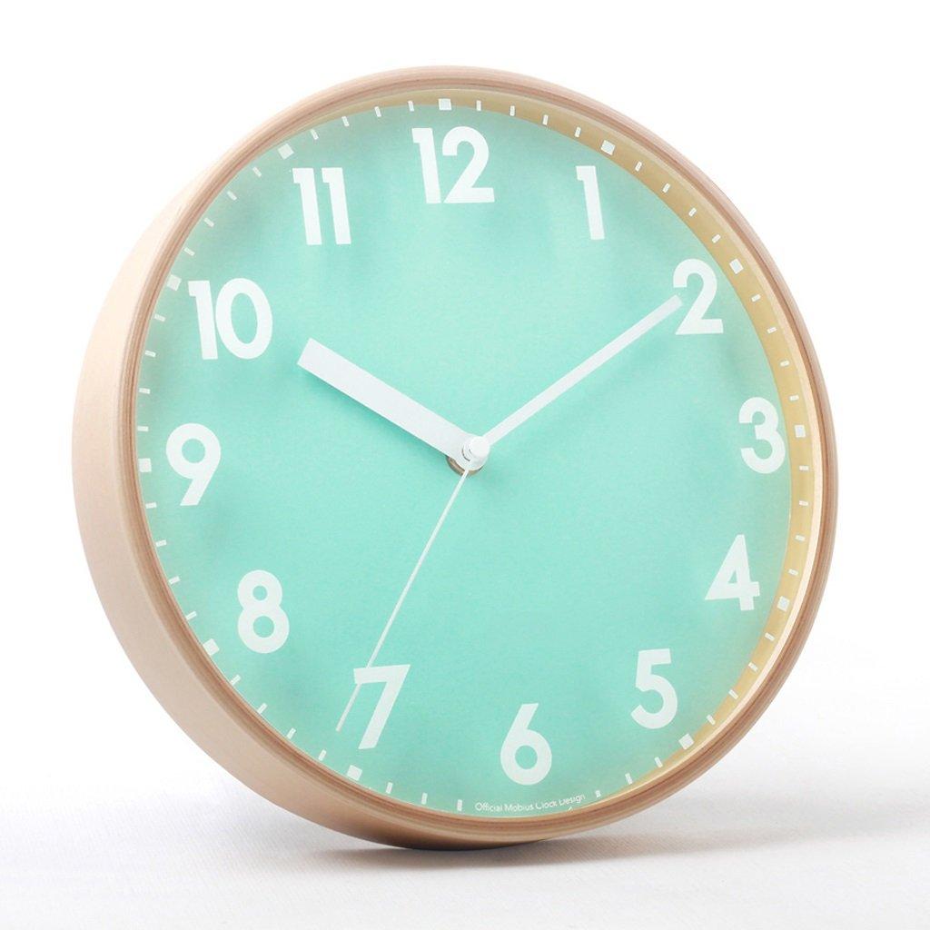 LINGZHIGAN ウォールクロック10インチミュートオリジナルの木製の壁時計シンプルな新鮮な木製のウォールクロックリビングルームクリエイティブクロック ( 容量 : A , 色 : 緑 ) B07BTZRXDR A 緑 緑 A