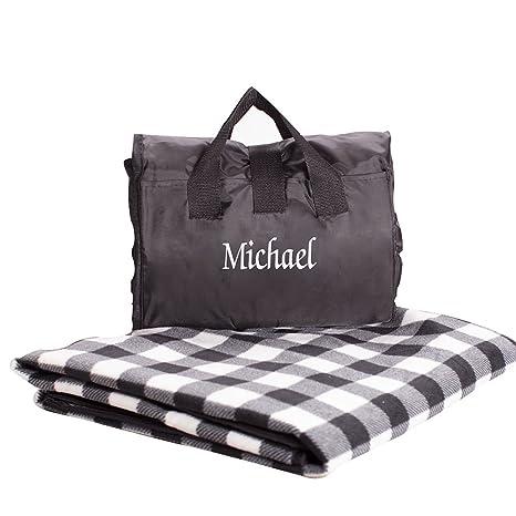 Amazon.com: giftsforyounow Checkered bordado de impresión ...
