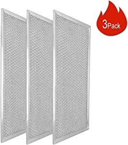 Lightweight Microwave Grease Filter W10208631A (3 Pack) with Aluminum Mesh By Primeswift,Replacement for Whirlpool KitchenAid Microwave Oven 2304686,AH3650910