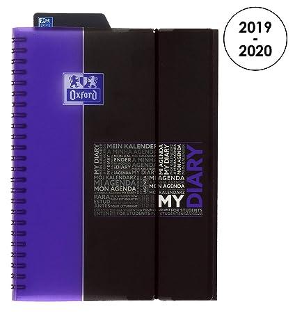 Oxford 100735783 Student – Agenda escolar (semanal 2018 – 2019 1 semana en 2 páginas, 15 x 21 cm, color morado