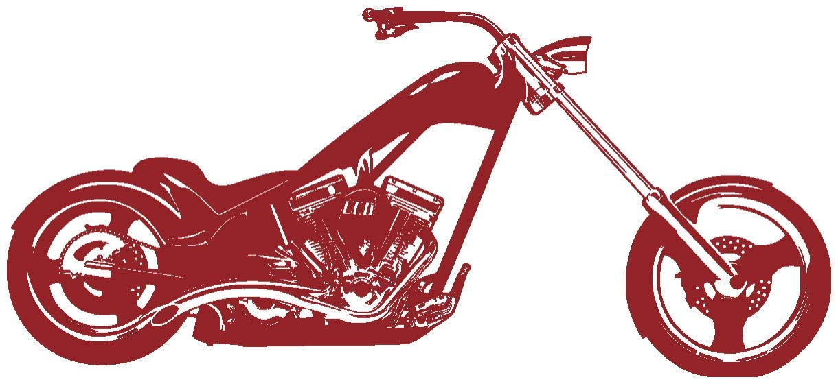 Samunshi® Wandtattoo Chopper Wandaufkleber in in in 10 Größen und 19 Farben (120x54cm schwarz) B013EKUXGI Wandtattoos & Wandbilder 394b6e