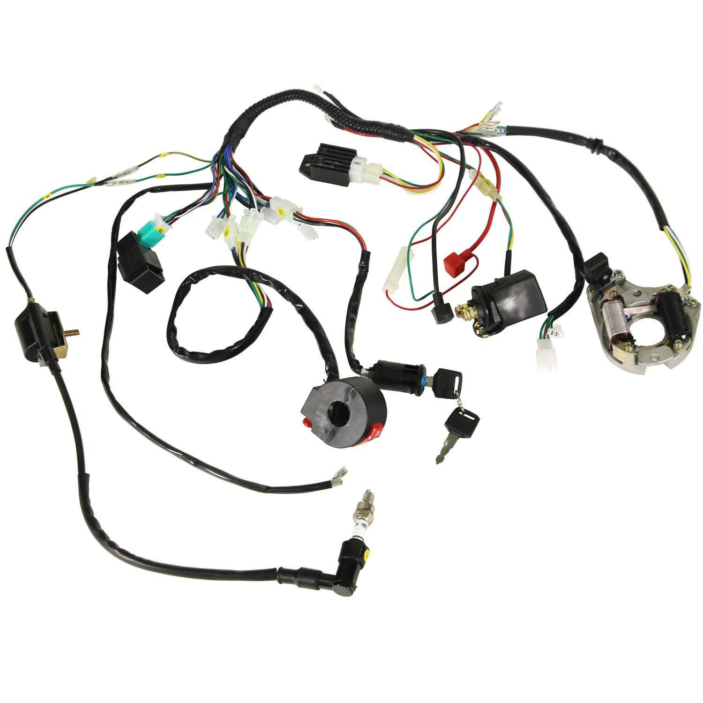 Auutoo Complete Electrics Wiring Harness Coil Cdi Stator 110 Cc Diagram Assembly 50cc 70cc 90cc 110cc 125cc Atv Quad Bike Buggy Gokart Automotive