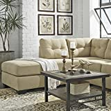 Maier Contemporary Cocoa Color Microfiber Left Side Chaise Sectional Sofa
