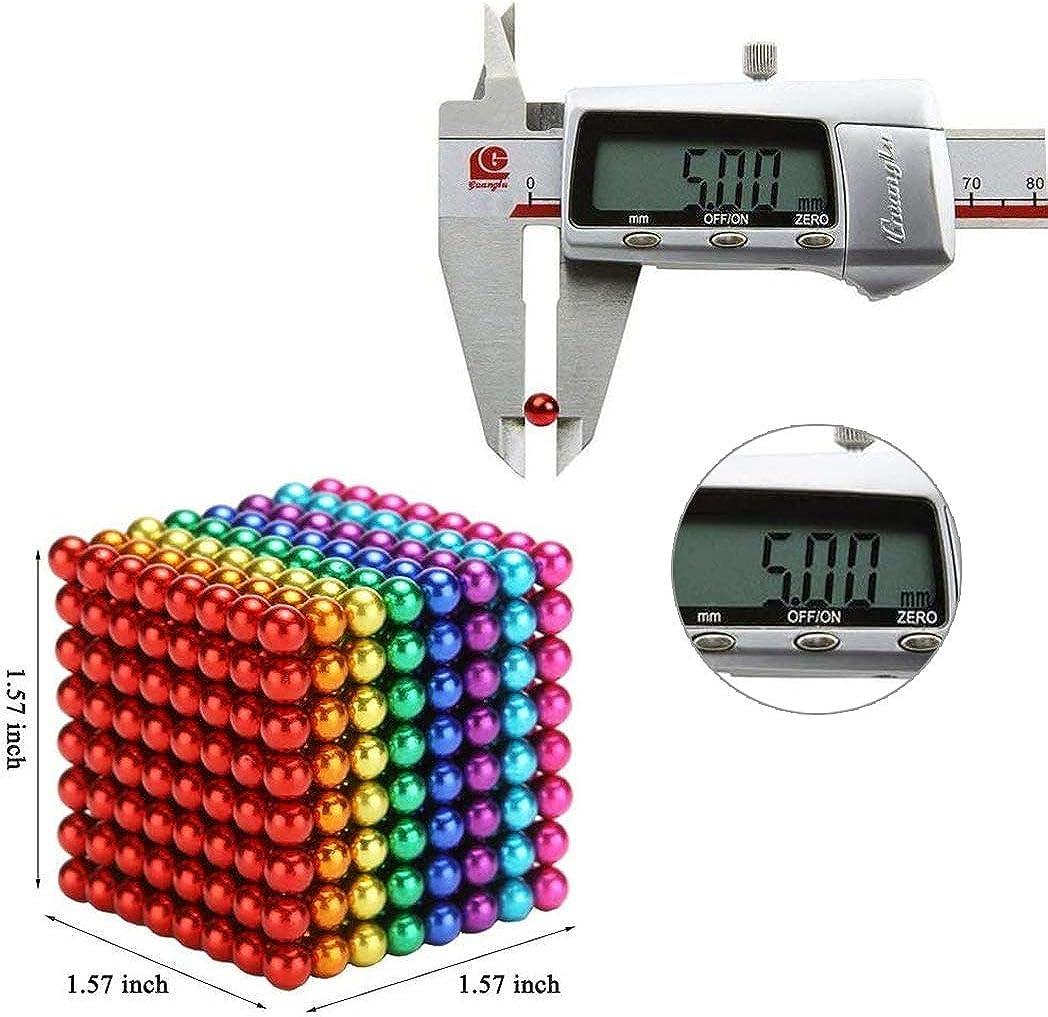 MBTRY Set di 512 palline a forma di cubo alleviare lo stress da ufficio 5 MMBalls per esercitare capacit/à di pensiero scrivania per adulti colorate