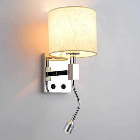 wall lamps for living room. Citra LED Wall Lights Reading Bedside Stainless Steel Lamp Flexible  Neck with Switch Living Room