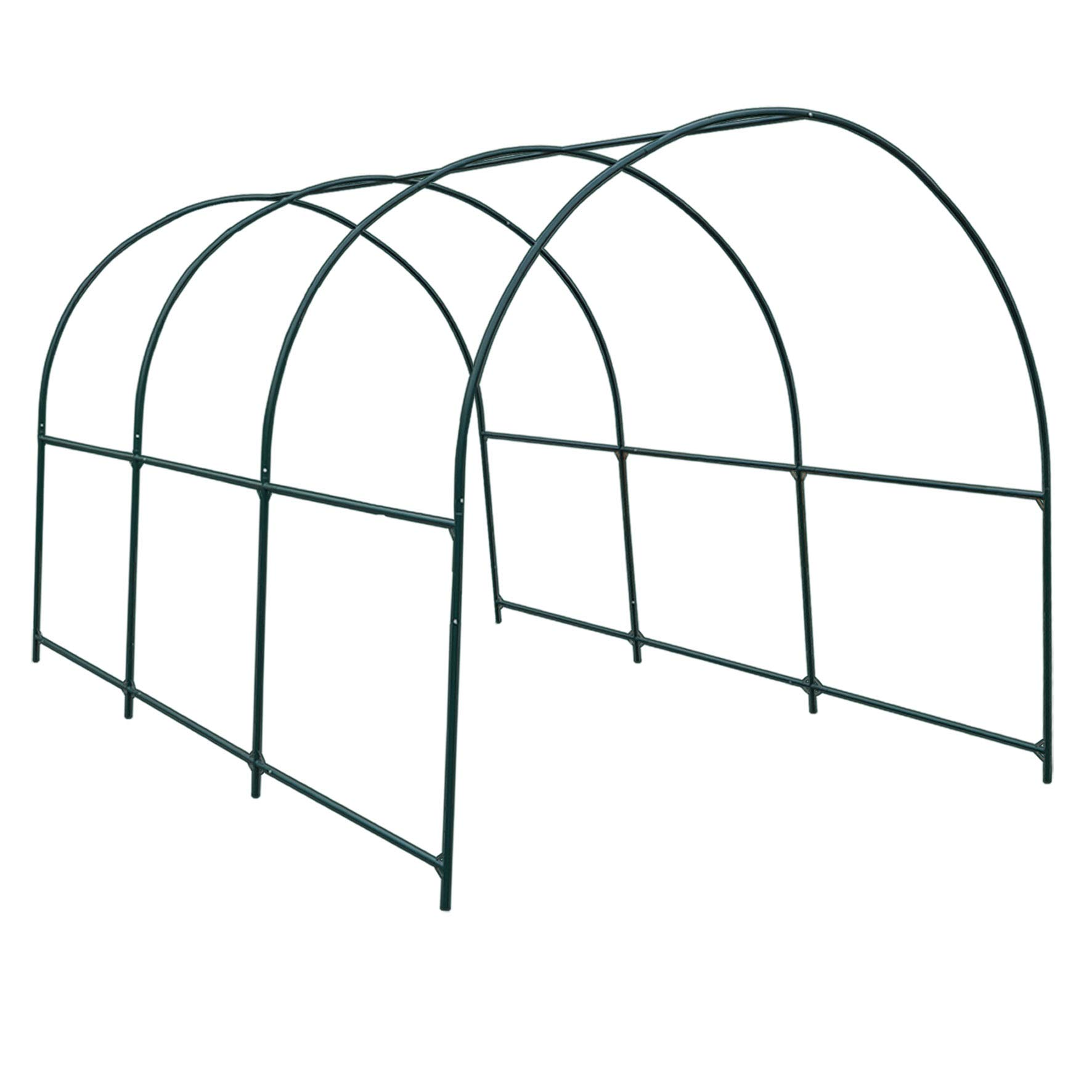 Strong Camel New Hot Green House 12'X7'X7' Greenhouse Spare Parts Frame (Cover NOT Included) by Strong Camel