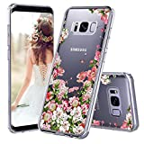 Galaxy S8 Plus Case, Clear Galaxy S8 Plus Case, MOSNOVO Girl Floral Garden Flower Printed Clear Design Transparent Plastic Case with TPU Bumper Protective Case Cover for Samsung Galaxy S8 Plus (2017)