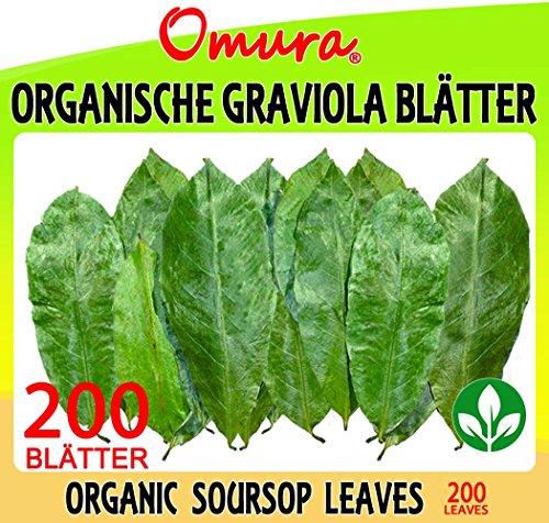 Omura ORGANISCHEN GRAVIOLA BLÄTTER ( Organic Soursop Leaves ), 200 BLÄTTER (LEAVES)