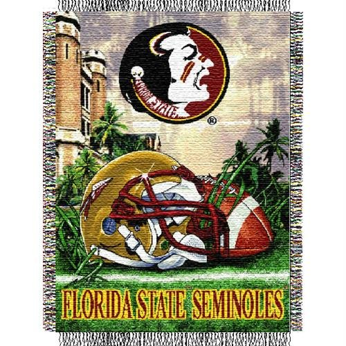 The Northwest Company Officially Licensed NCAA Florida State Seminoles Home Field Advantage Woven Tapestry Throw Blanket, 48
