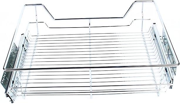 600 mm capacidad para caj/ón de cocina o dormitorio con acabado cromado Cestas de alambre extra/íbles para armario 20 kg