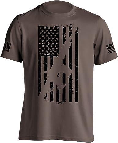 USA ar 15 firearm flag tee shirt AR-15 Rifle American flag long sleeve t-shirt