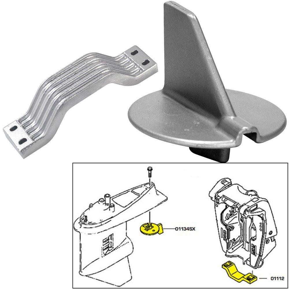 Tecnoseal Anode Kit w3/Hardware - Yamaha 150-200HP Left Hand Rotation - Zinc by Tecnoseal
