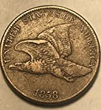 1858 P Flying Eagle ((Large Letters)) Penny Cent Very Fine