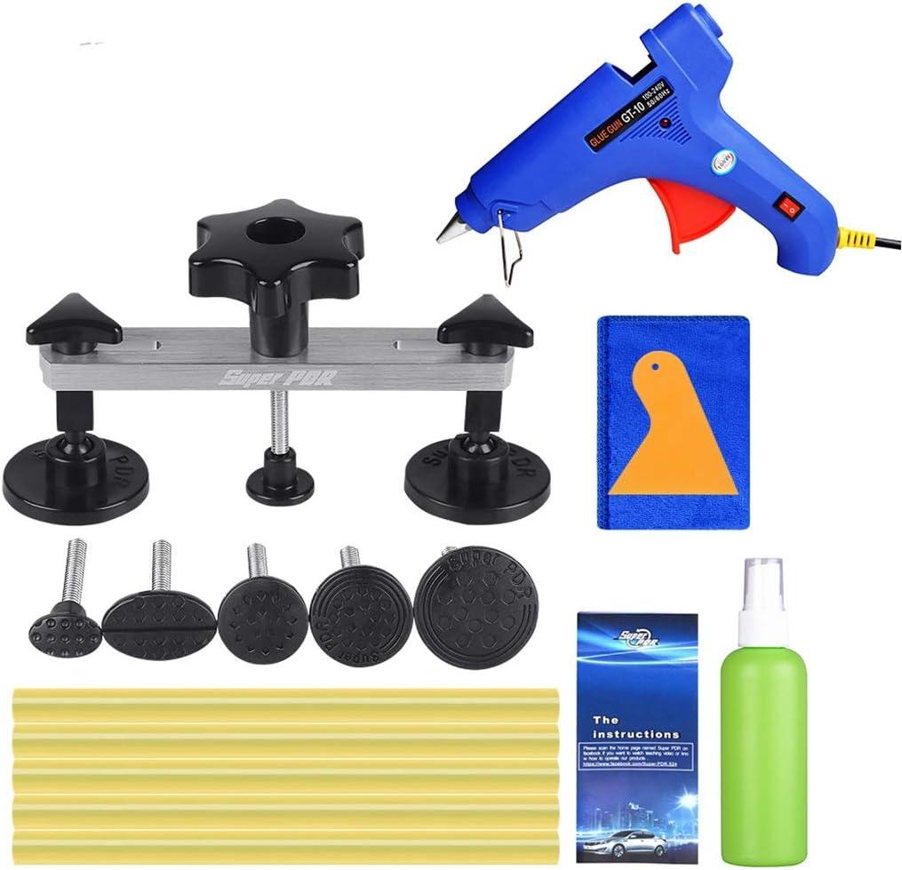 Kit de herramientas for el coche Desabollo reparación del puente de abolladura sin auto de la herramienta de eliminación de Dent Kit de pegamento caliente del derretimiento Vara for pistola de pegamen