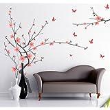 Decals Design 'Branch with Flowers' Wall Sticker (PVC Vinyl, 50 cm x 70 cm)