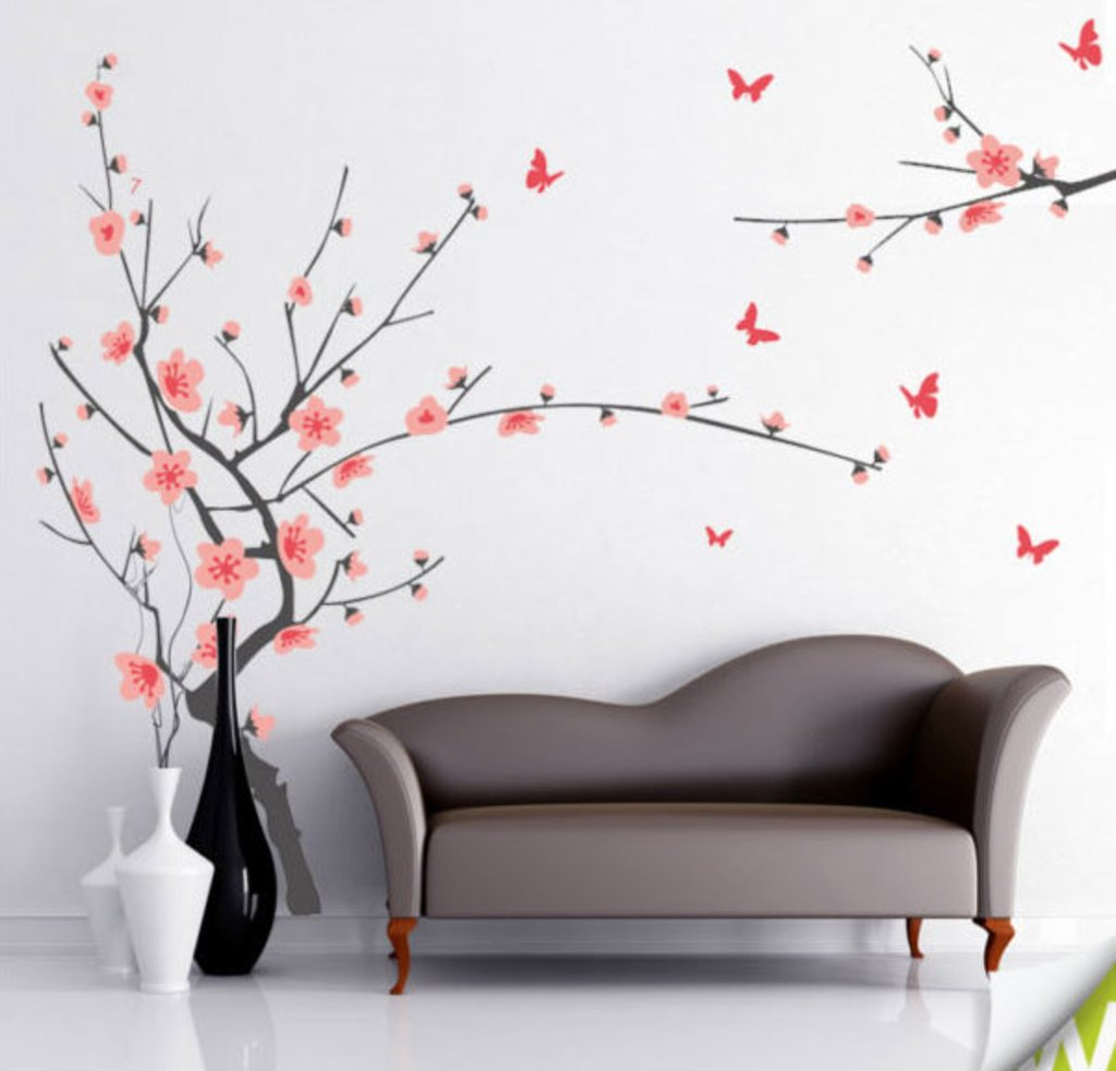 Buy Decals Design Branch with Flowers Wall Sticker PVC Vinyl