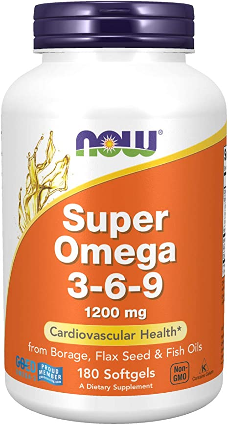 Amazon Com Now Supplements Super Omega 3 6 9 1200 Mg With A