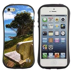 "Hypernova Slim Fit Dual Barniz Protector Caso Case Funda Para Apple iPhone SE / iPhone 5 / iPhone 5S [Naturaleza Hermosa Forrest Verde 178""]"