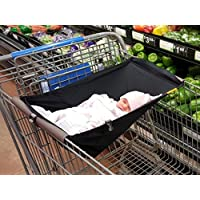 Binxy Baby Shopping Cart Hammock (Raindrops in Blue)