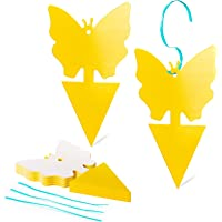Yellow Sticky Traps 20 Pcs Butterfly Fruit Fly Capturing Traps, Insect Catcher for Indoor Outdoor Use Disposable Glue…