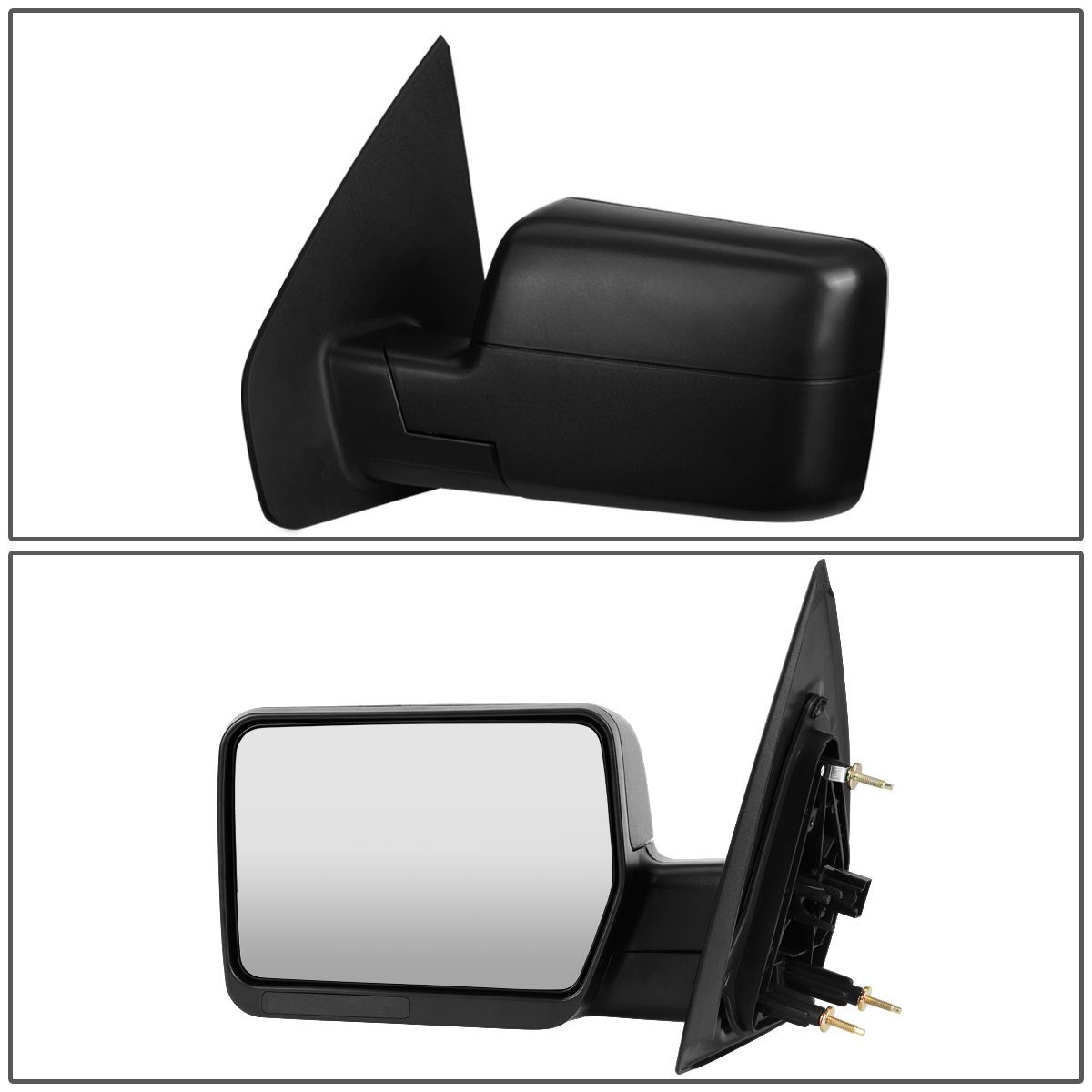 For Ford F150 Black Textured Telescoping Manual Folding Side Towing Mirror Left//Driver