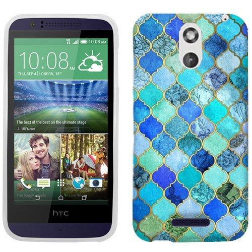 For HTC Desire 612 Jade Marble Case Cover