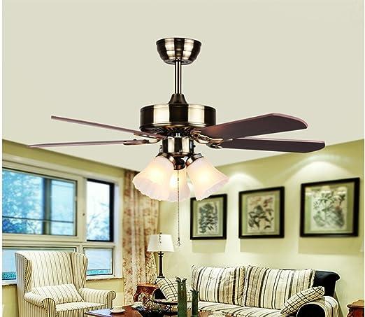 LighSCH Ventiladores para el techo con lámpara Dormitorio ...