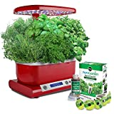 Countertop Herb Garden AeroGarden Harvest (LCD Control Panel) with Gourmet Herb Seed Pod Kit, Red