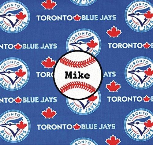 Toronto Bluejays Baseball Fabric Personalized Pillow ()