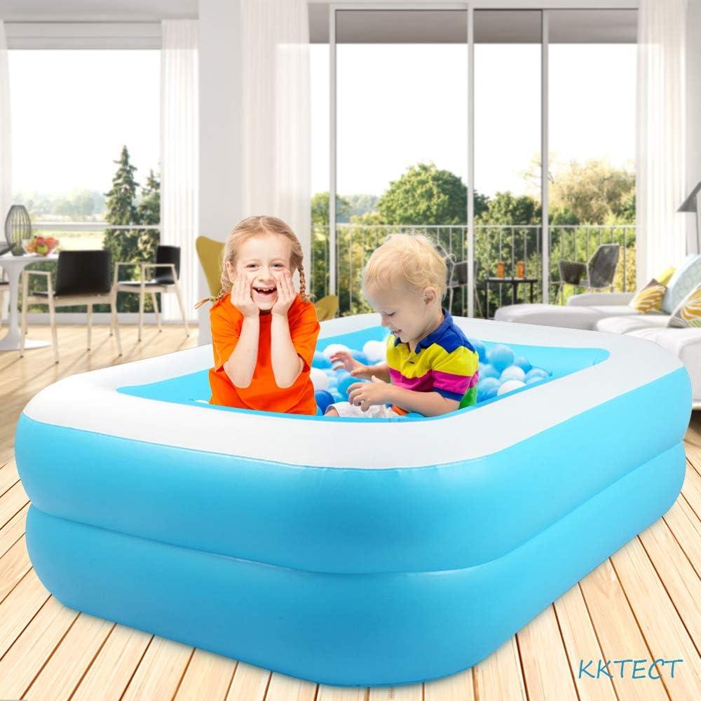 KKTECT Piscina de Juegos inflables Piscina Inflable para ni/ños Juguete de pulverizaci/ón de Agua de jard/ín de Juego al Aire Libre de Verano Ni/ños Summer Water Fun Play 110cm x 88cm x 33cm