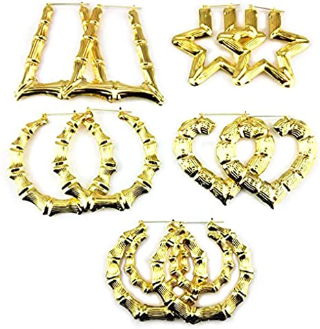 5 Pairs of Gold Earrings