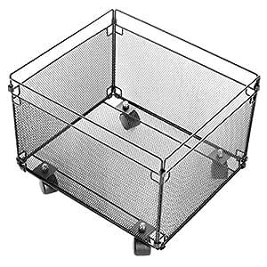 modern rolling black metal mesh legal hanging file folder organizer document. Black Bedroom Furniture Sets. Home Design Ideas