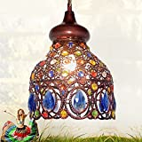 Southeast Asia Thai pendant lamps color crystal Mediterranean Bohemian restaurant aisle lamps pendant lights ZA626 ZL53