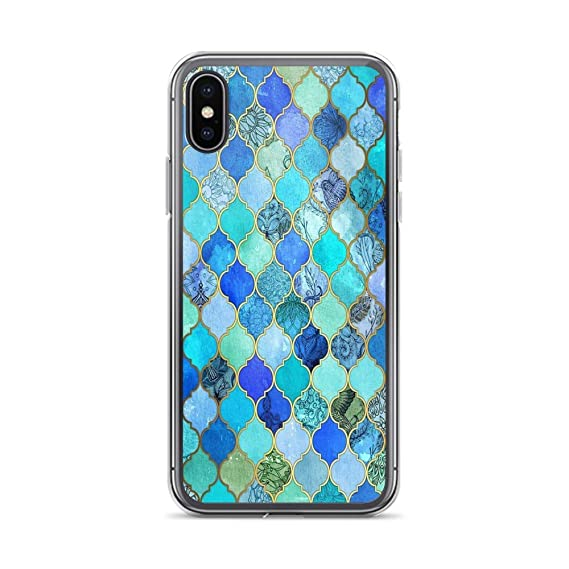 Amazon Com Iphone Xs Max Pure Clear Case Cases Cover Cobalt